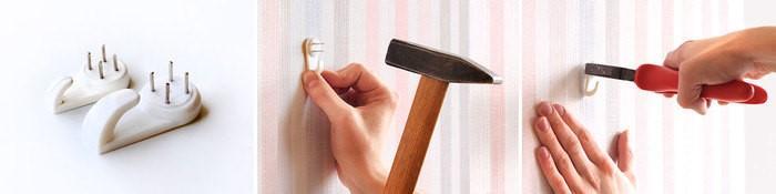 Как повесить картину на стену с помощью крючка-паучка