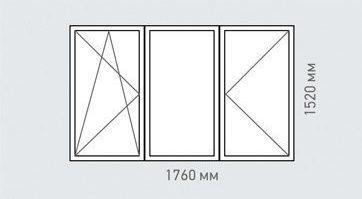 Измерение проема окна с 3 стеклами