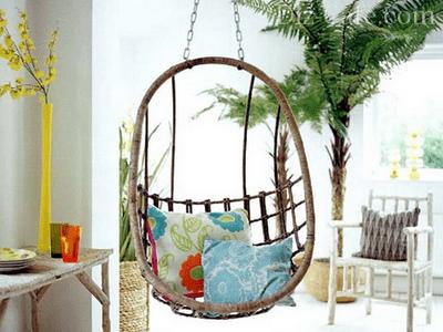 Кресло-гнездо с овальной спинкой