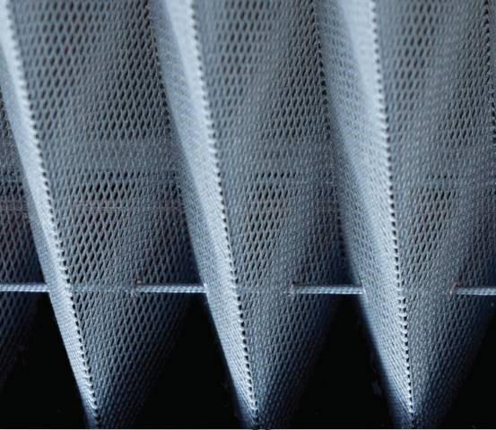 Полотно москитной сетки плиссе