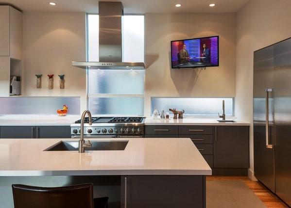 Высота телевизора на кухне