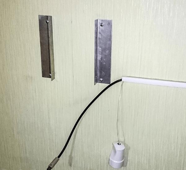 Закрепление профиля на стене