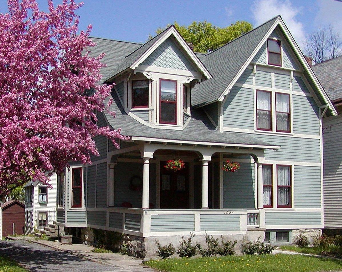 Дом в скандинавских холодных цветах