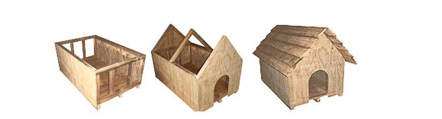 Этапы сборки будки для овчарки