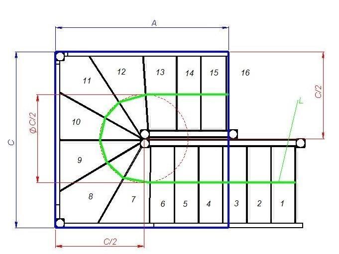 Формулы расчета лестницы