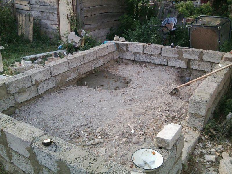 Ленточный фундамент из керамзитобетонных блоков для бани