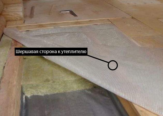 Пароизоляция на цокольное перекрытие внутри дома - какой стороной