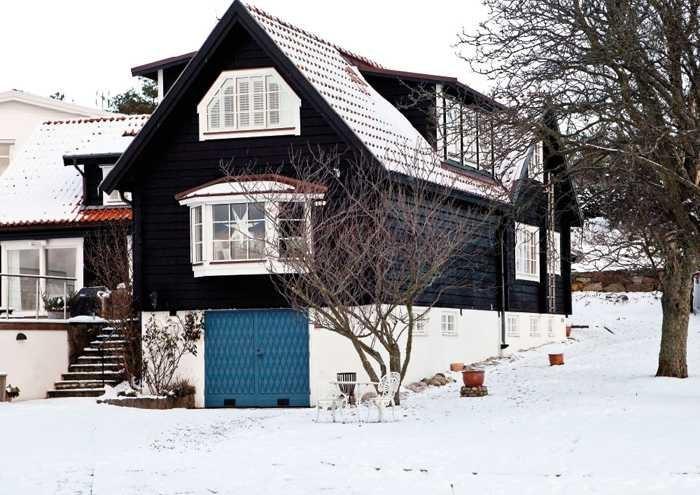 Тёмный дом из дерева
