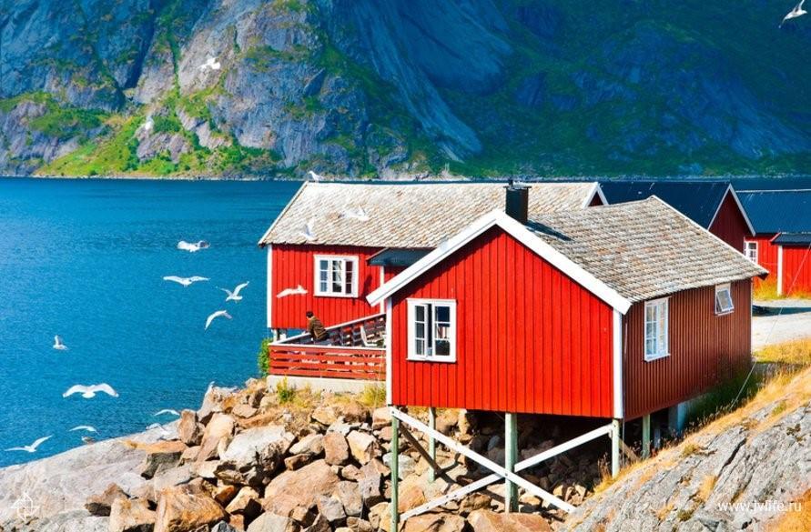 Яркий дом в Норвегии