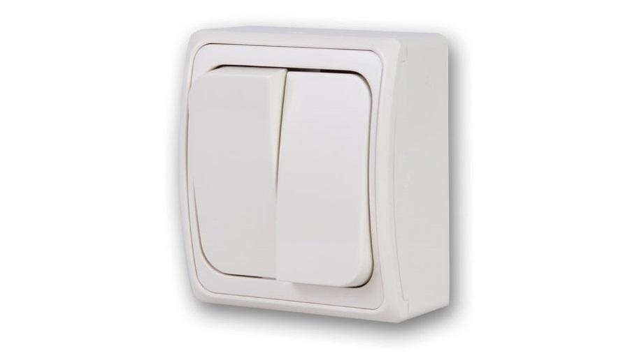 Двухклавишный выключатель для наружной установки
