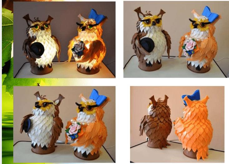 Готовые совы светильники