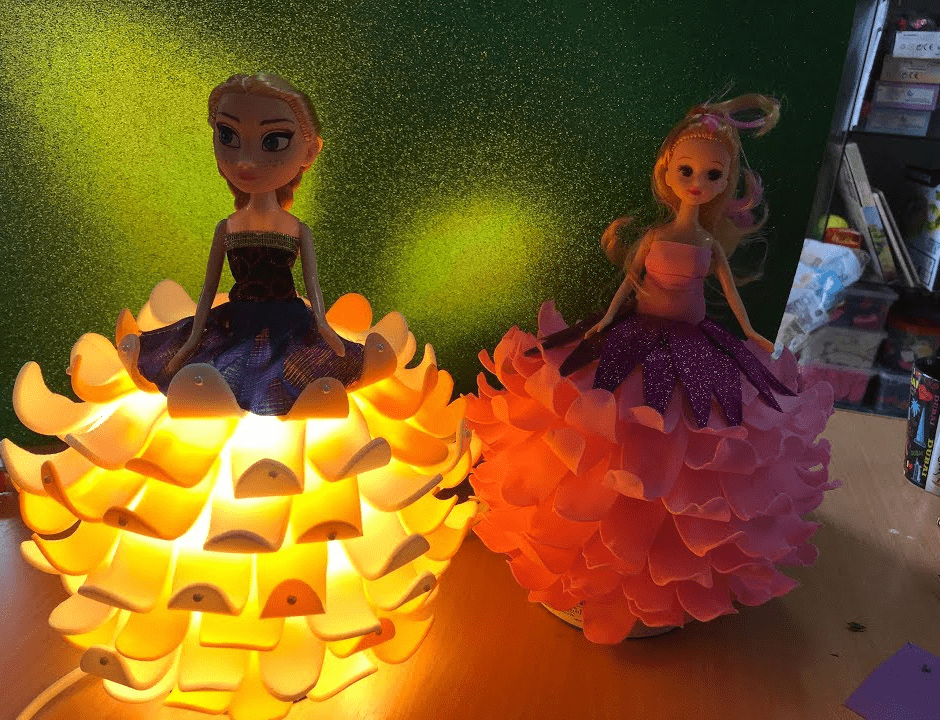 Кукла светильник из изолона
