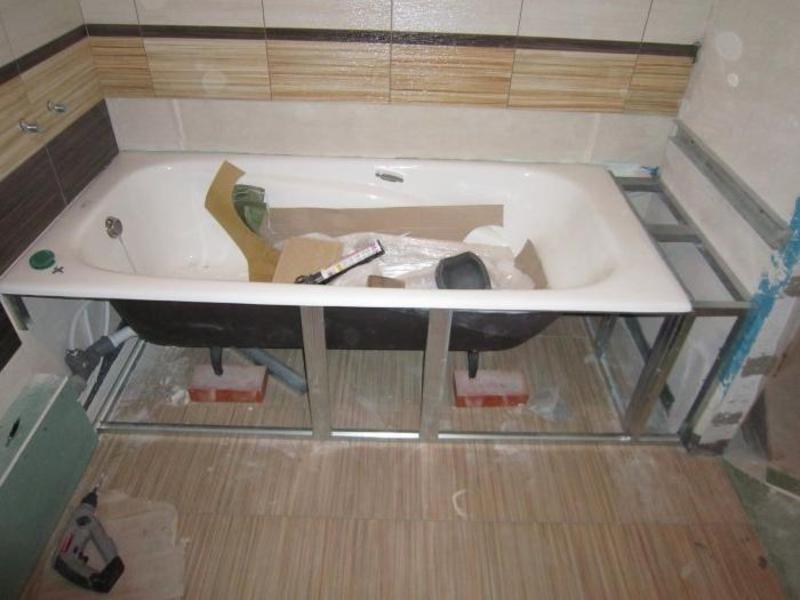 Подставки для ванны из кирпича
