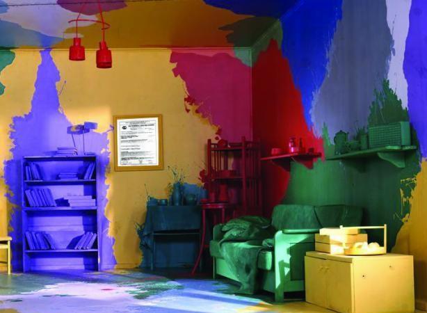 Разноцветный окрас стен
