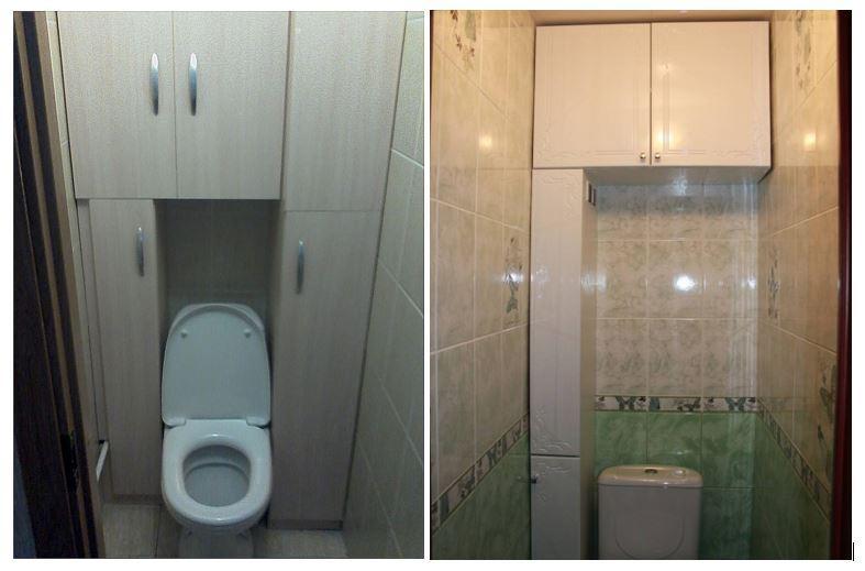 Шкафы в туалете 1