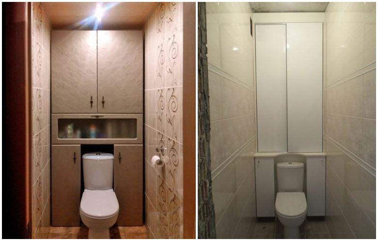 Шкафы в туалете 2