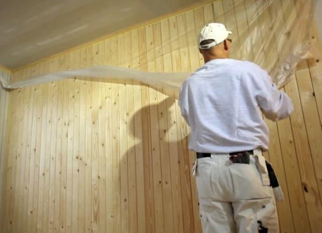 Пленка на стены от капель краски с потолка