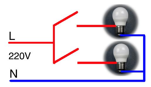 Подключение цоколя лампы