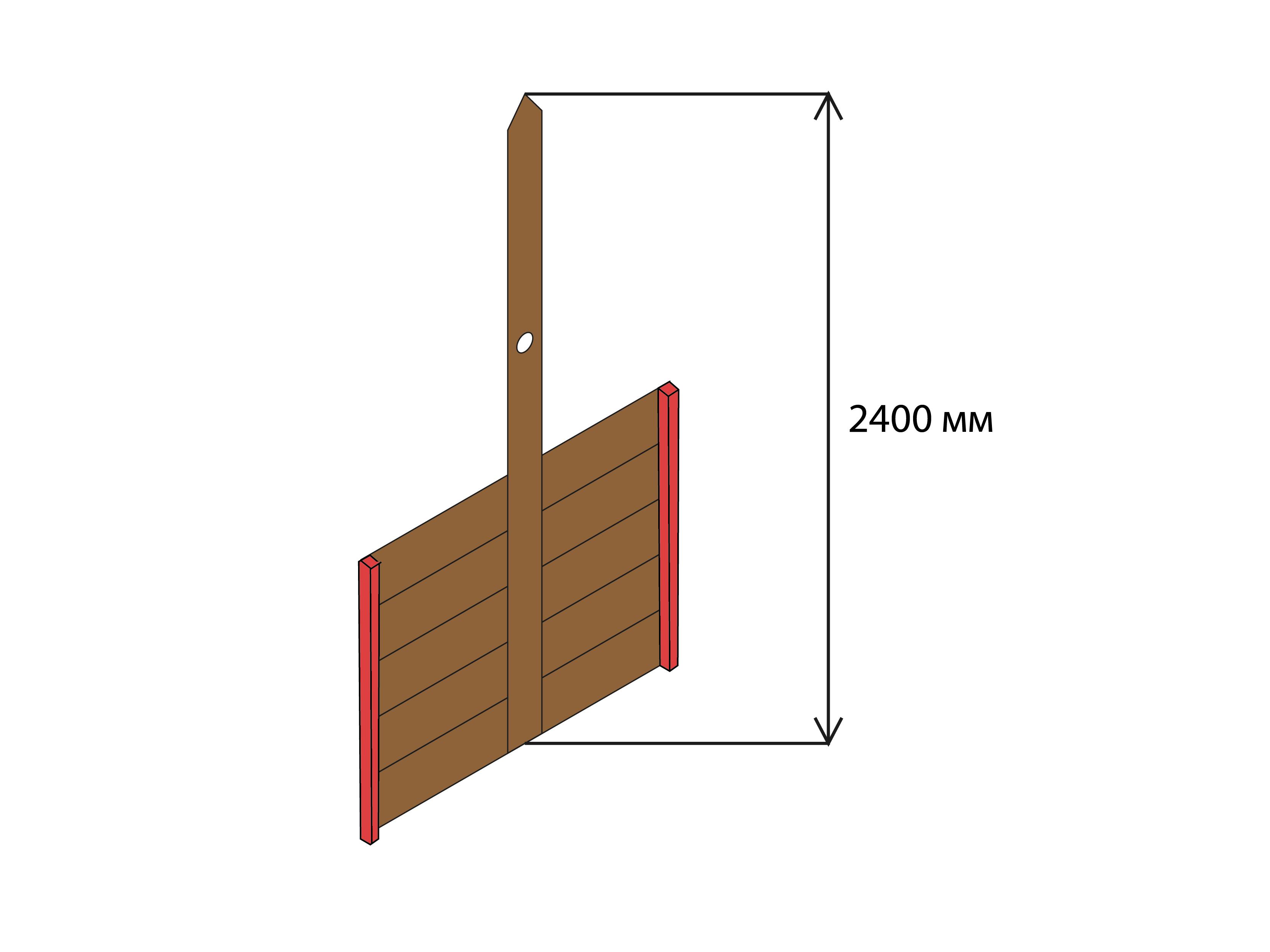 Схема установки стоек для навеса