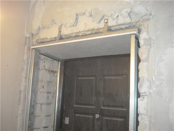 Каркас откосов входной двери