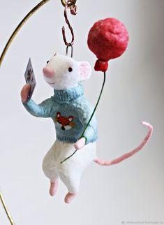 Мышка елочная игрушка