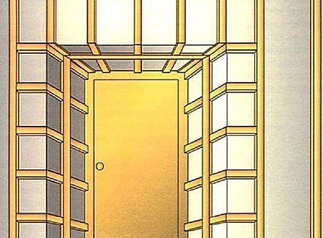 Обрешетка откосов входной двери