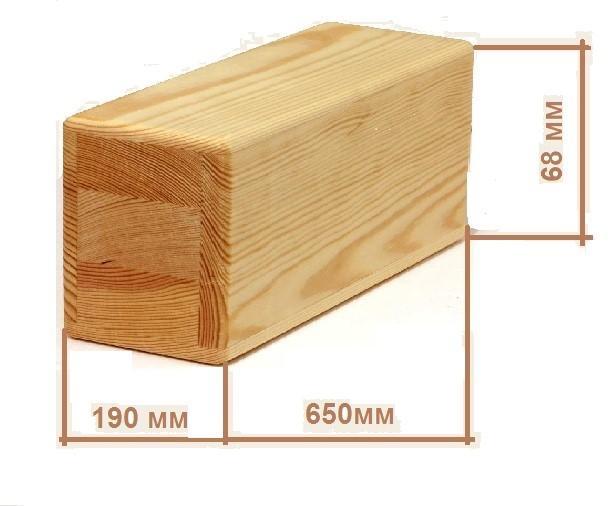 Размеры деревянного кирпича