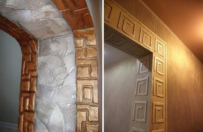 Рельефный откос арки