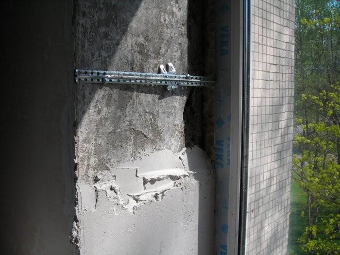 Штукатурка откосов входной двери