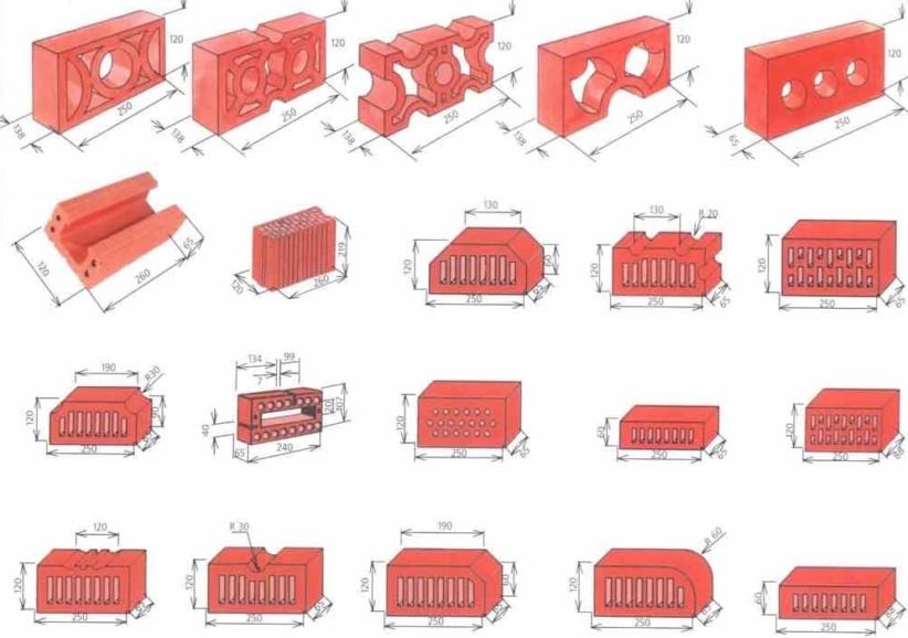Размеры кирпича: стандарты для красного и белого силикатного кирпича