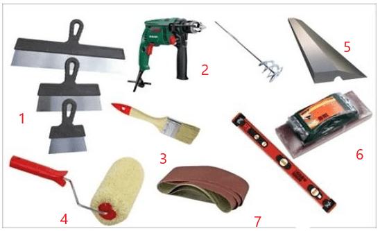 Инструменты для шпаклевки гипсокартона
