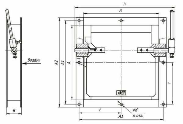 Клапаны с противовесом для противодействия поступлению холодного воздуха через вытяжку