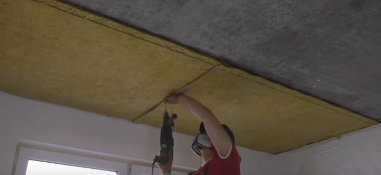 Крепление шумоизоляции на потолок