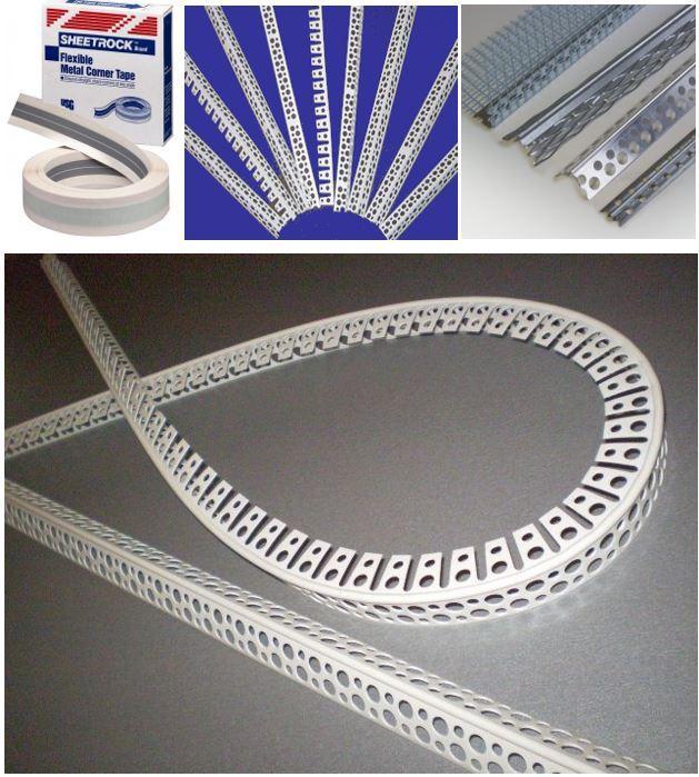 Металлизированная бумажная лента, пластиковый уголок, металлический уголок