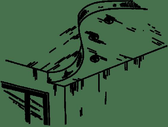 Двухуровневый натяжной потолок эскиз