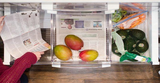 Газета в холодильнике