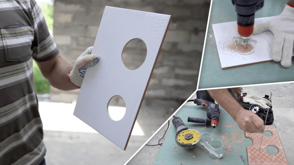 Как сделать круглое отверстие в плитке