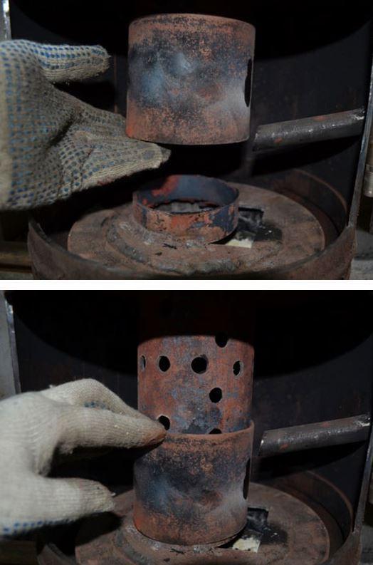 Муфта для соединения горелки и крышки поддона