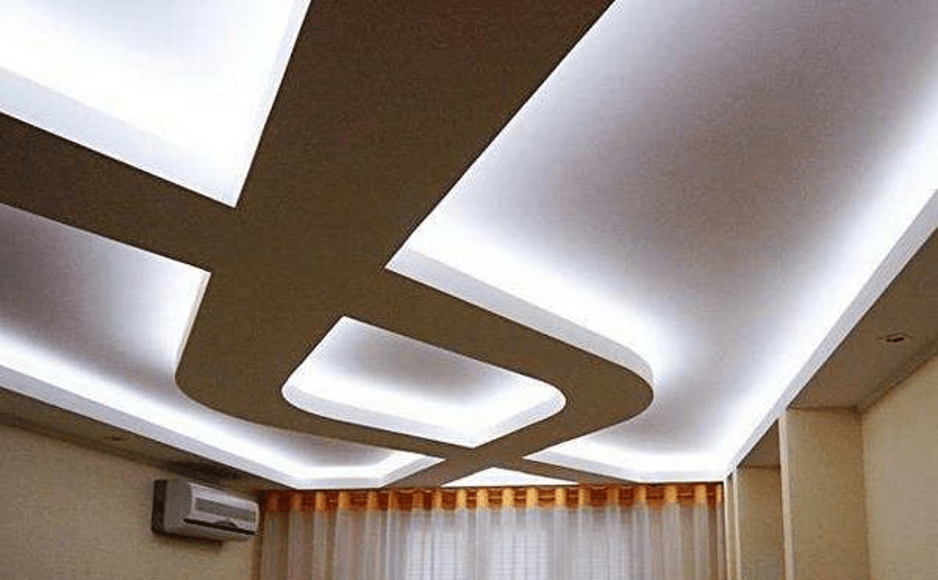Подсветка потолка полосы
