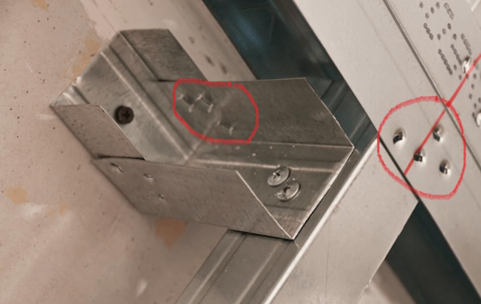 Соединения деталей просекателем
