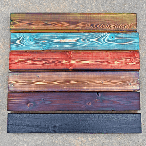 Степени обжига древесины