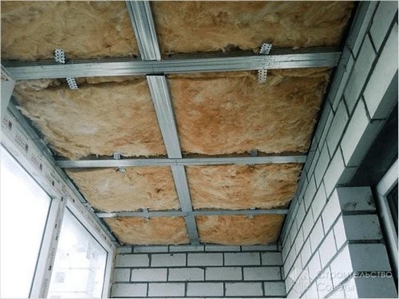 Теплоизоляция под потолком