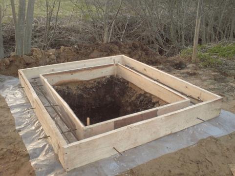 Основание для дачного туалета с выгребной ямой