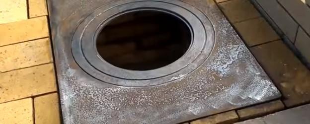 Плита под котлом