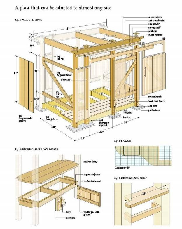 Схема капитального душа с плоской крышей