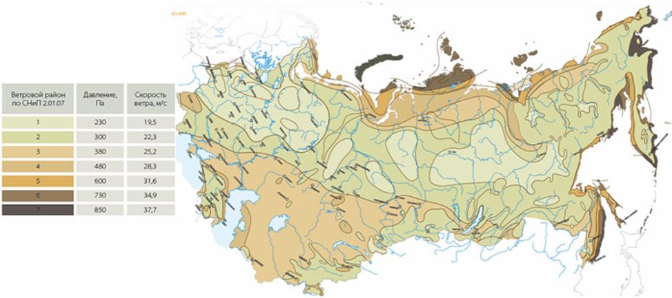 Снеговая и ветровая нагрузка в России