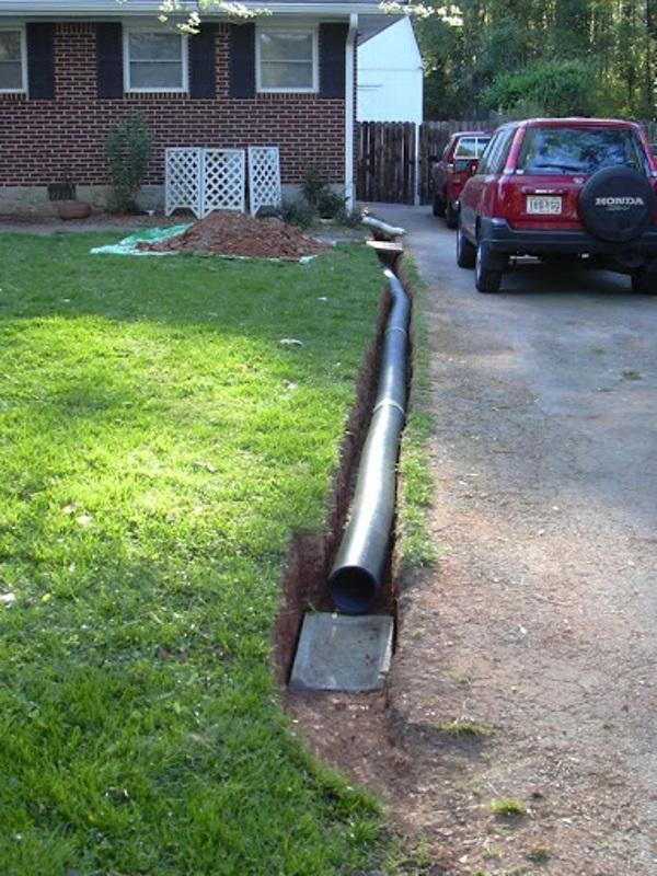 Сток воды через трубу