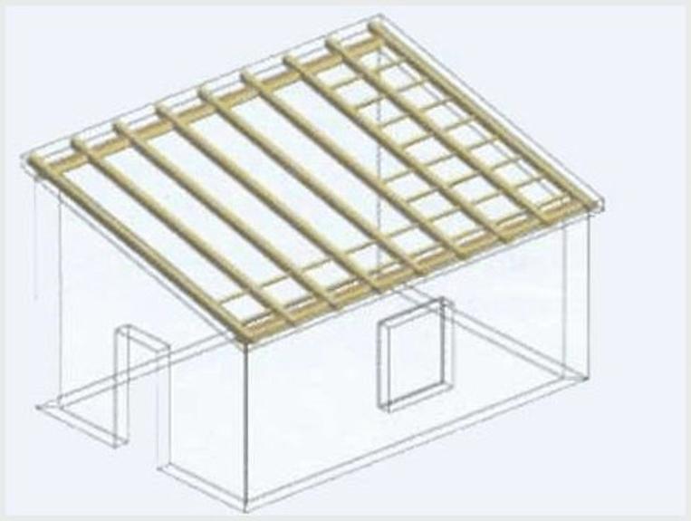 Устройство простой односкатной крыши