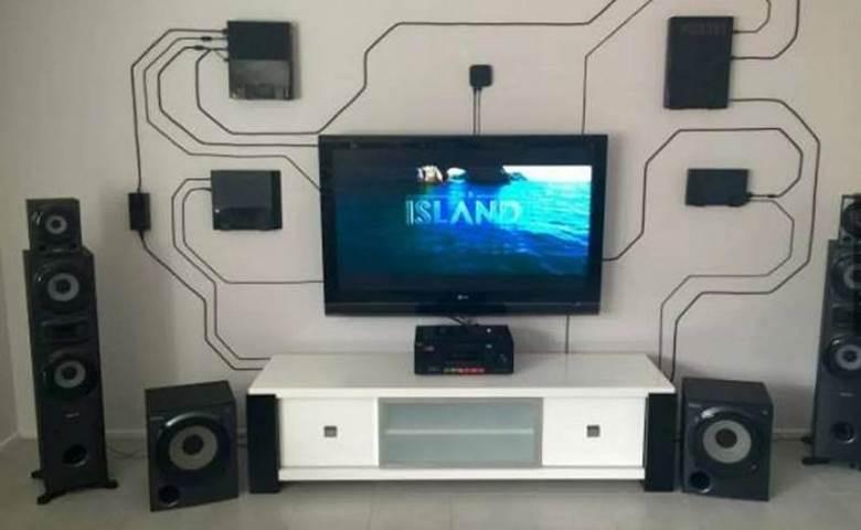 Крепление проводов от телевизора на стену