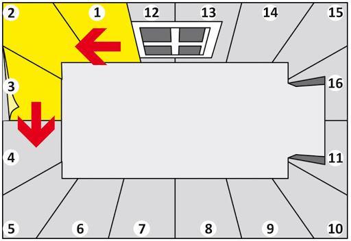 Схема наклейки обоев от окна против часовой стрелки